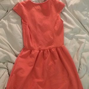 coral shortsleeve dress